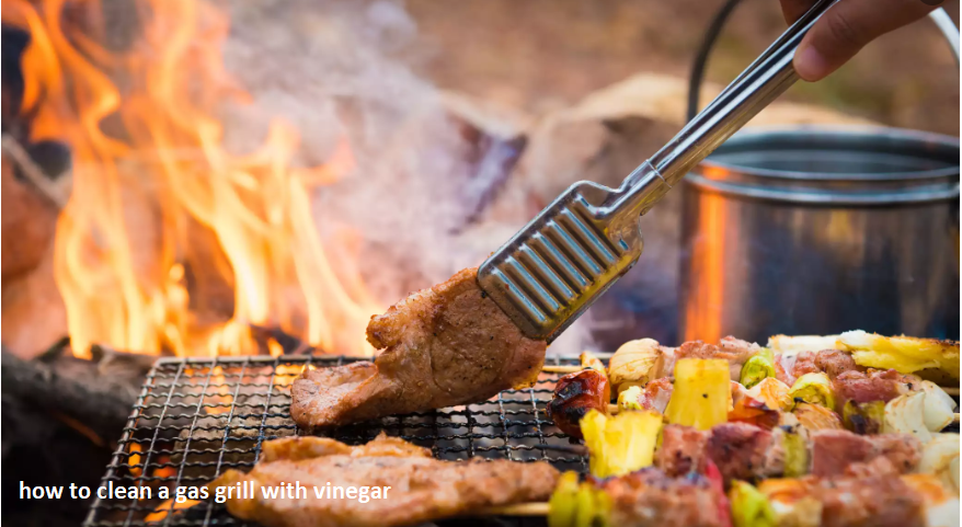 how to clean a gas grill with vinegar